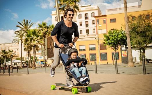 Лонгборд - интересная коляска для маленьких детей