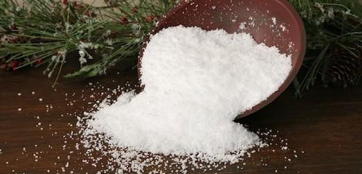 Поделки снег из соли
