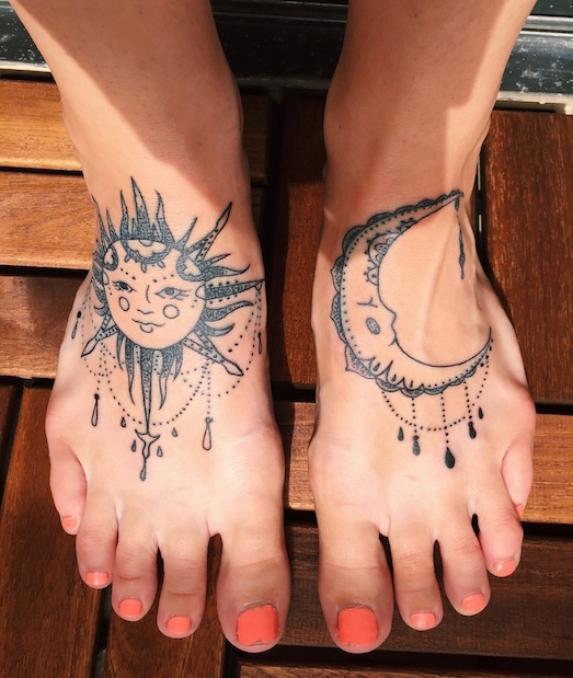 Значение татуировки солнце на теле человека