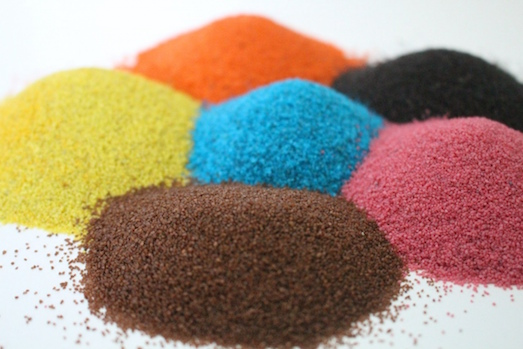 Как можно использовать цветную соль?