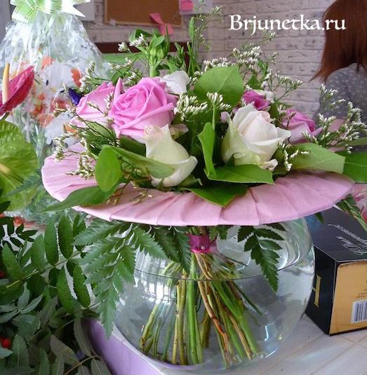 Маленький букет цветов своими руками