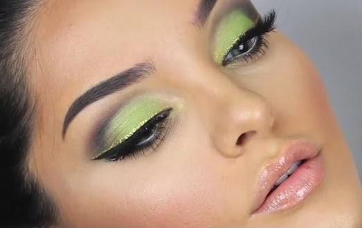 Зеленые тени для век макияж