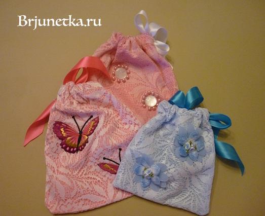 Сумка для подарка из ткани своими руками