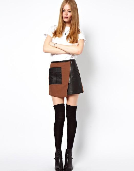 Короткие юбки с запахом фото