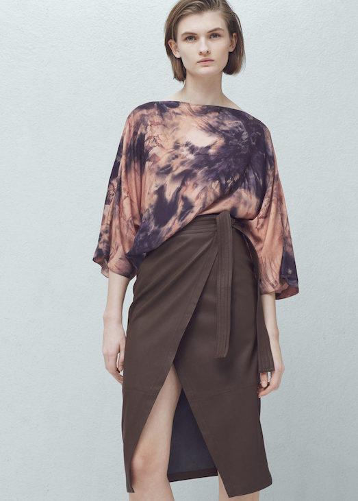 С чем носить стильную юбку с запахом?