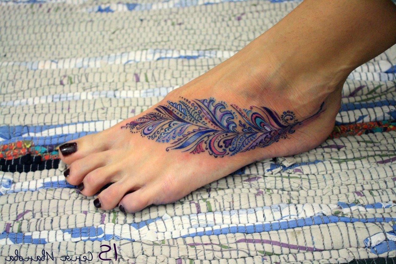 Татуировки на ступне, фото тату на стопе 46