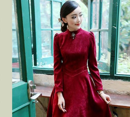 Роскошное и модное платье из бархата