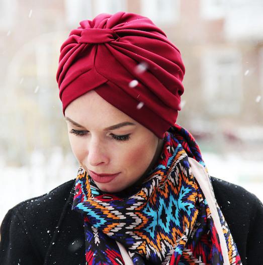 Чалма — стильный головной убор для модниц