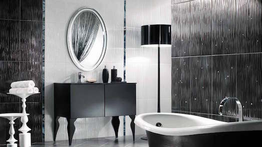 Модный и яркий черно-белый цвет в интереьре