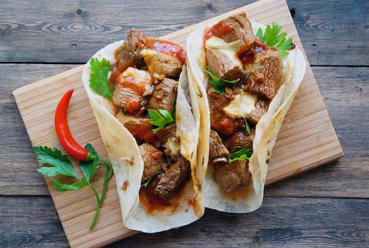 Фахитос — отличное блюдо из мексиканской кухни