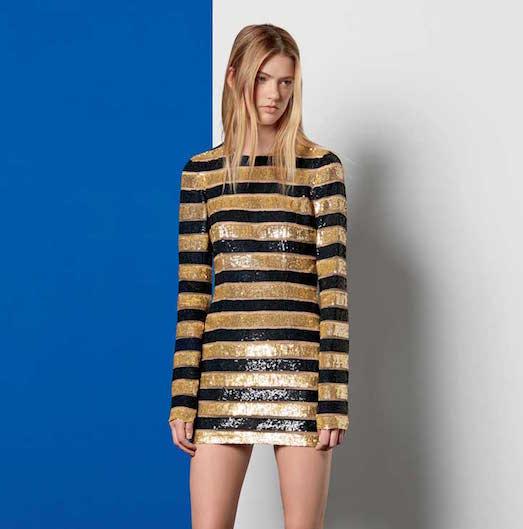 Как правильно носить одежду золотого цвета?