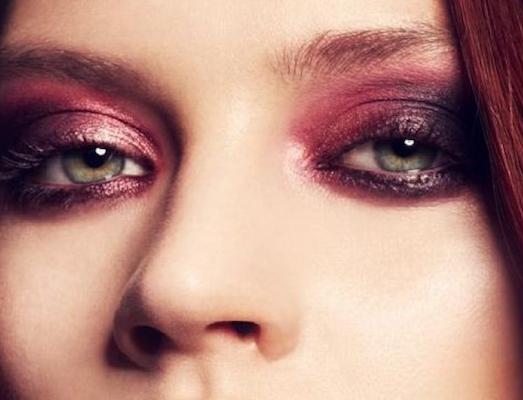 Необычный и яркий макияж в бордовых тонах