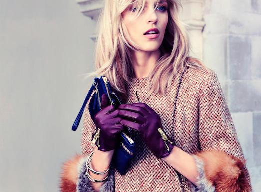 Кожаные перчатки — стильный аксессуар этого сезона
