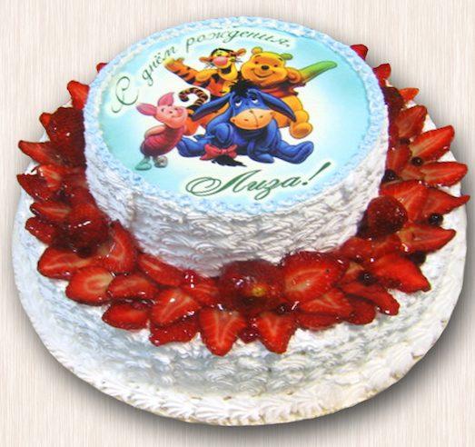Торт с фотографией — отличный подарок для именинника