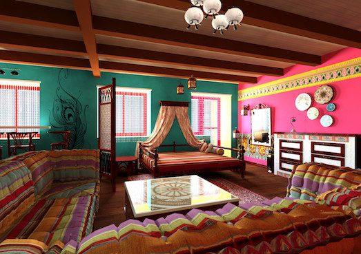 Красивый и необычный индийский стиль в интерьере