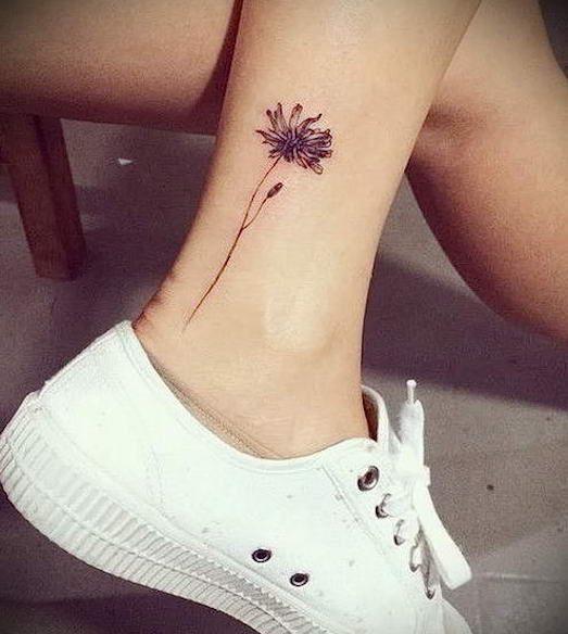 Красивые и модные татуировки на лодыжке