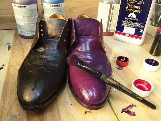 Как в домашних условиях перекрасить обувь 791