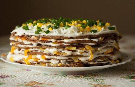 Цікаві рецепти закусочних тортів