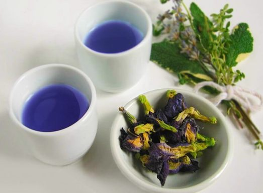 синий чай заварка
