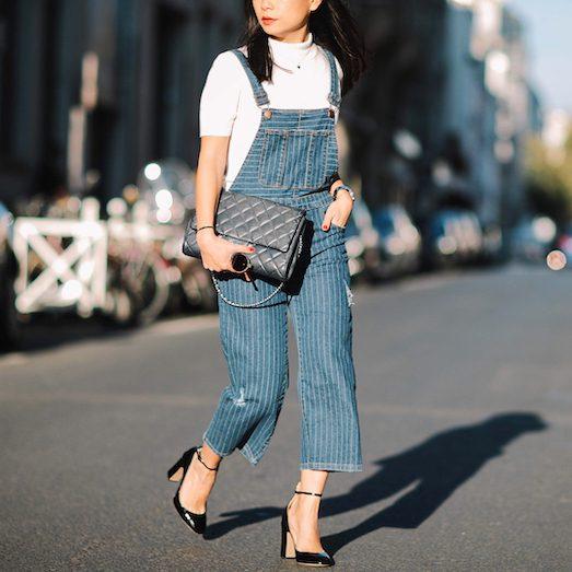 Как носить модный женский рабочий комбинезон?